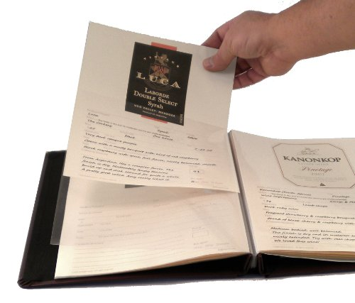 Refill Pages for Wine Label and Tasting Journal - for Hobbymaster Leather & Fabric Versions