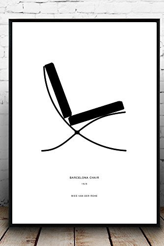 Poster 30x42cm Mies Van Der Rohe Poster Barcelona Chair Poster