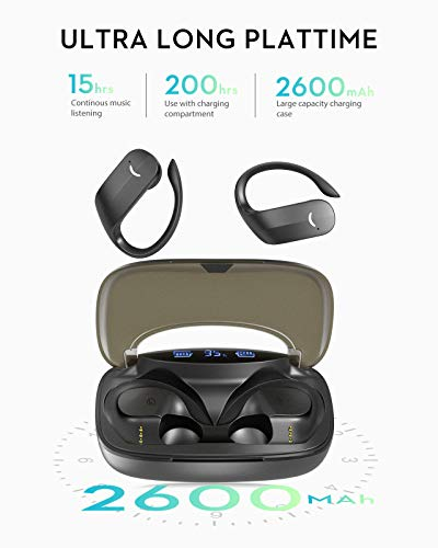 Wireless Bluetooth Earbuds,Bluetooth Earpiece Wireless Earbuds 200H Playtime Waterproof Noise Cancelling In Ear Headphones with Charging Case, USB-C Quick Charge for iPhone Android Sports Business