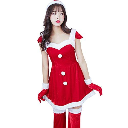 Jocolate(ジョコレート) サンタコス サンタワンピース サンタ コスプレ サンタクロース 衣装 サンタ クリスマス レディース ワンピース 女の子用 パーティー かわいい 人気