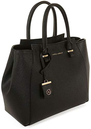 Laura Ashley Tote Bag for Women - Leather, Black  Amazon.co.uk  Shoes   Bags df2a94a4bf