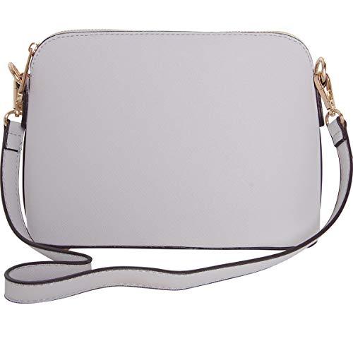 c75dcf23e641 Humble Chic Saffiano Convertible Handbag - Mini Vegan Leather Structured Zip  Shoulder Purse or Crossbody Bag