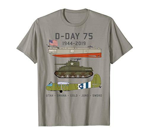 D-Day Normandy Landings WW2 75th Anniversary T Shirt Gift