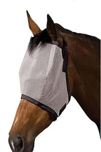 Roma Buzz Away Fly Mask Black/Silver Pony Horse Rug