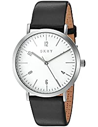 DKNY Women's Quartz Stainless Steel and Leather Automatic Watch, Color:Black (Model: NY2506)