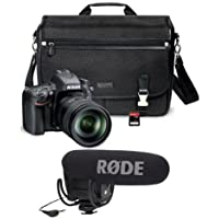 Nikon D610 FX-format Digital SLR Camera Kit with 28-300mm VR Lens, 24.3MP, - With Rode Microphones VideoMic Pro R Cardioid Condenser Microphone