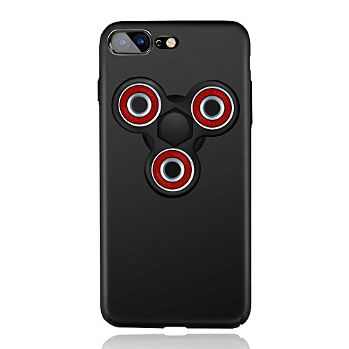 Price comparison product image Cuby EDC Spinner Fidget Toy Anti-drop Scrub Hard Case For Apple iPhone 7 black black red …