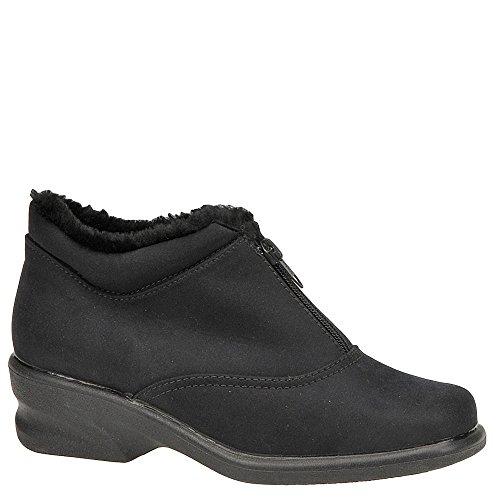 Toe Warmers Wanderlust Womens Micha Fabric Closed Toe Ankle, Black, Size 7.0