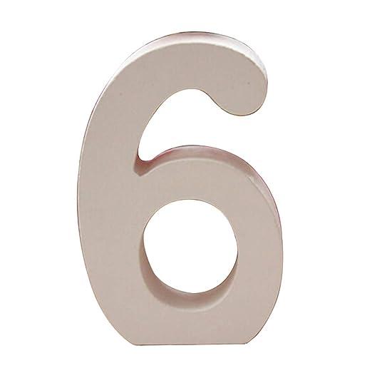 gespout Madera Número Números, DIY pintar Decoración 0 - 9 ...