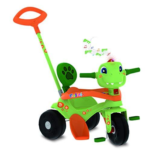 Triciclo Tonkinha Dino Passeio E Pedal Bandeirante Verde