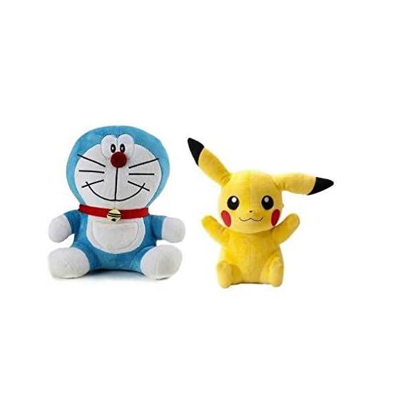 Sneha Sales - Doraemon & Pikachu Soft Toy for Kids & Children , Girls Playing Teddy Bear 26 & 26 cm