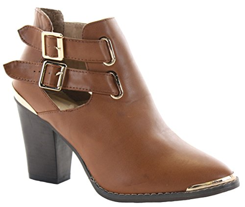 16 WINTER PLATFORM WOMENS HEELED Style MID BLOCK BOOTIES Tan CHELSEA HIGH BOOTS 8 HEEL SIZE LADIES 3 ANKLE BwaSxzqw8
