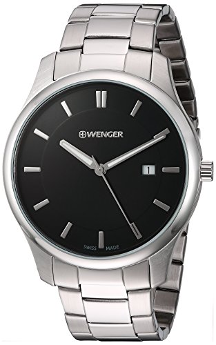 Wenger-Mens-City-Classic-Swiss-Quartz-Stainless-Steel-Casual-Watch-ColorSilver-Toned-Model-011441104