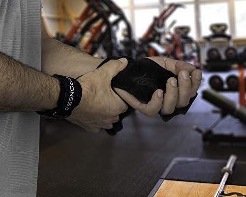 P PRONESS Manique Crossfit en Cuir et Protège-Poignets-Gants Musculation Hommes, Manique Gymnastique Fille,Accessoires…