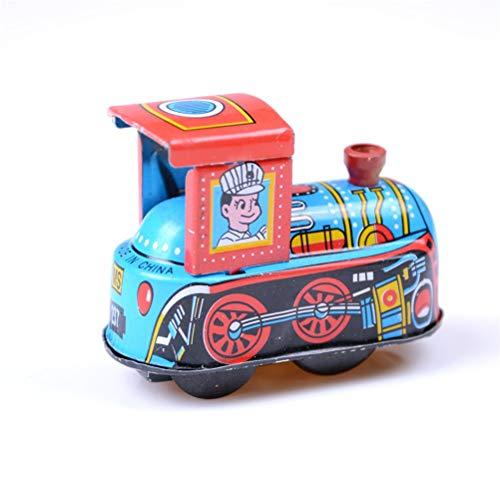 Diecasts & Toy Vehicles - Baby Kid Children Vintage Wind Up Tin Toy Retro Steam Train Reminiscence Children Clockwork Spring Locomotive Classic Toy - by Faxe - 1 PCs from Faxe