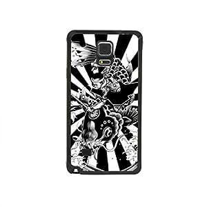 CaseCityLiu - Hunt Fish Japanese Alternative Comics Pattern Black Bumper Plastic+TPU Case Cover for Samsung Galaxy Note4