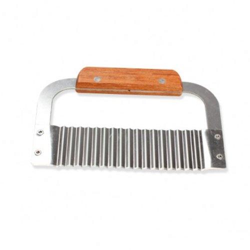 Dealglad Wooden Handle Stainless Steel Wave DIY Handmade Soap Cutting Knife