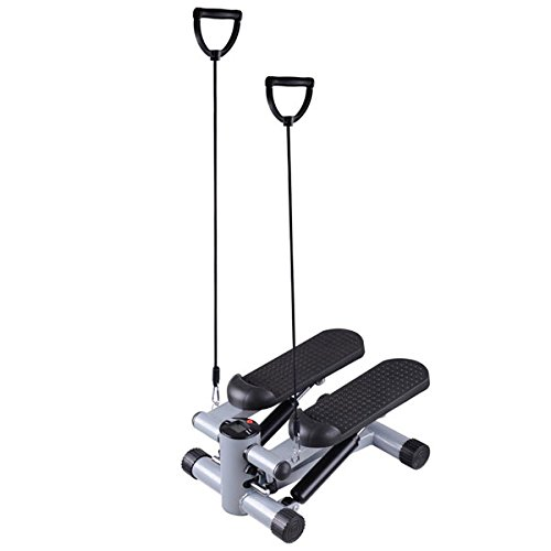 Fitness Gym Mini Twister Stair Stepper w/ Bands Black
