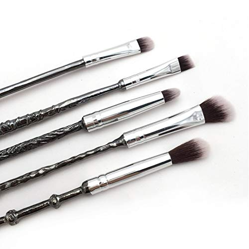 Eye shadow applicators Professional 5pcs Makeup Brushes Set Eye Shadow Applicator Beauty Make Up Tools Concealer Classical Lines Metal Cosmetics Brush by DAKUHO