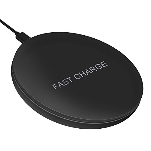 Fast Wireless Charger,Toward Slim Qi Wireless Charging Pad USB-C Qi Charger for Samsung Galaxy Note8 S8 S8+ S7 Edge S7 Note5 S6 Edge+, Wireless Charger for iPhoneX,iPhone8,8 Plus,No AC Adaptor