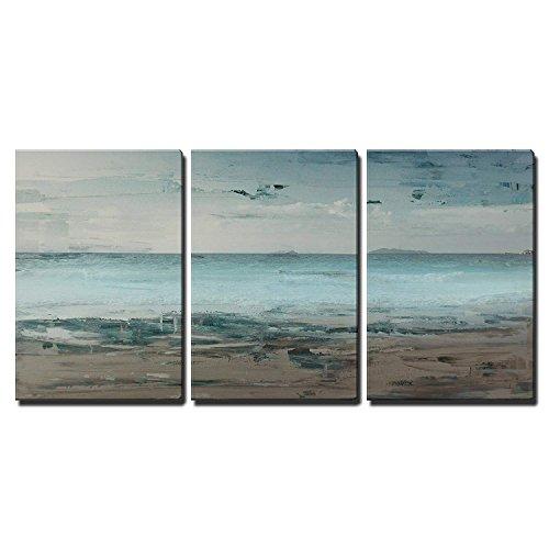 (wall26 - Seascape with Beach Horizon - Canvas Art Wall Decor - 24