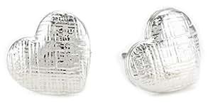 Tuleste Market Heart Silver Stud Earrings