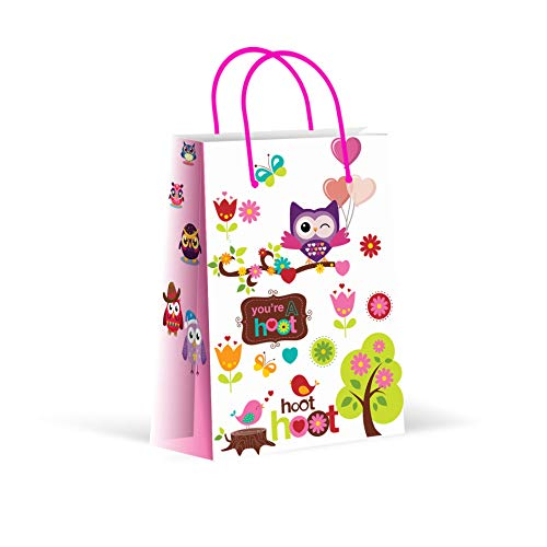 Premium Owl Party Bags, Party Favor Bags, New, Treat Bags, Gift Bags, Goody Bags, Party Favors, Party Supplies, Decorations, 12 Pack -