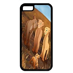 iPhone 5C case ,fashion durable Black side design phone case, Rubber material phone cover ,Designed Specially Compatible with The Lionesses Sarabi, Sarafina, Nala and Kiara.