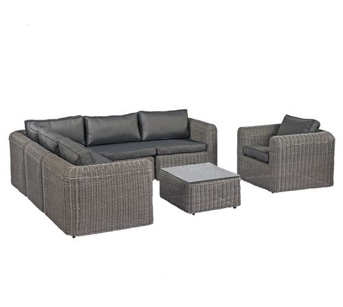 Amazon.de: POLY RATTAN Lounge Gartenset Sofa Garnitur Polyrattan ...