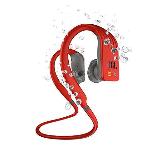 JBL Endurance Dive, Wireless MP3 in-Ear Sport Headphone with One-Button Mic/Remote - Red
