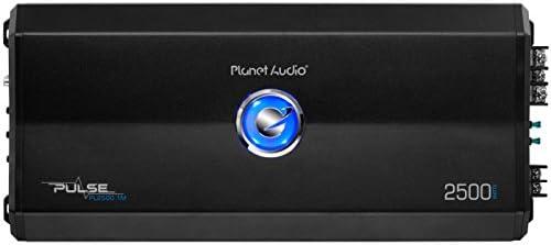 Planet Audio PL2500.1M Pulse 2500 Watt, 2 Ohm Stable Class A/B, Monoblock, Mosfet Car Amplifier with Remote Subwoofer Control