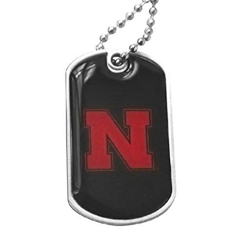- aminco NCAA Nebraska Cornhuskers Domed Dog Tag, Team Color, 4
