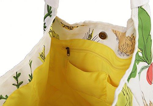 cm Tote De Beach Canvas 27X10X36cm Shopping Globed Las 34 Cases Shaped Clairefontaine Bag amp; Zoe Multicoloured 671qFF