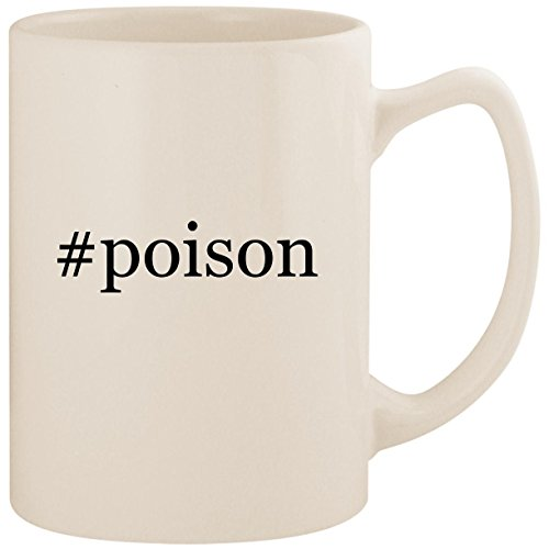 #poison - White Hashtag 14oz Ceramic Statesman Coffee Mug Cup ()