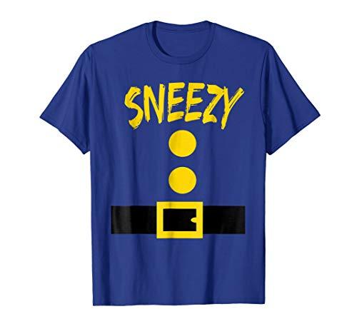 Dwarf Costume T-Shirt - Funny Halloween Gift Idea - Sneezy ()