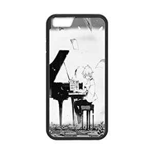 Onshop Custom Cartoon Soul Eater Playing Piano Phone Case Laser Technology for iPhone 6 4.7 Inch