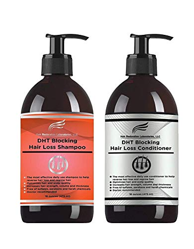 Cheap 2018 HAIR RESTORATION LABORATORIES' REGULAR STRENGTH DHT BLOCKING HAIR LOSS SHAMPOO AND CONDITIONER SET. FOR MEN AND WOMEN. OVER 30 INGREDIENTS TO BLOCK DHT,REVERSE HAIR LOSS AND REGROW HEALTHIER HAIR