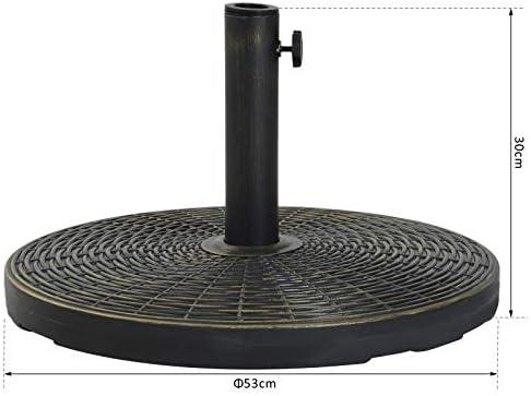Outsunny - Base Redonda para sombrilla de Cemento, 25 kg, Soporte ...