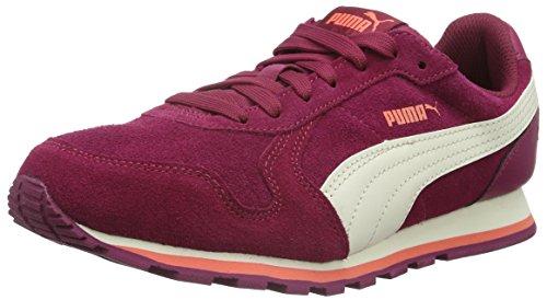 Puma St Runner Sd Jr Zapatillas de Deporte, Unisex Niños Rojo - Rot (Red Plum-WHISPER White-Porcelain Rose 03)