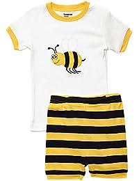 Kids & Toddler Pajamas Boys Shorts 2 Piece Pjs Set 100%...