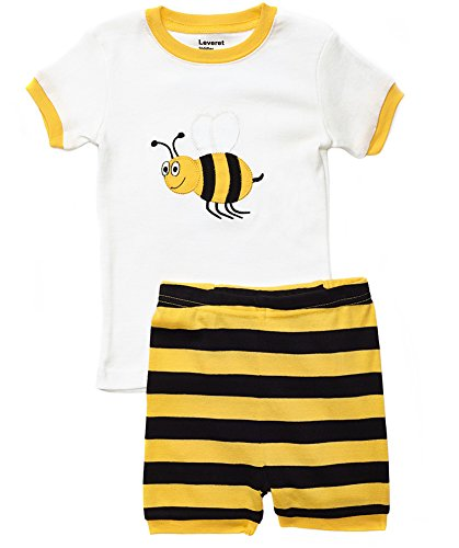 Leveret Shorts Bumble Bee 2 Piece Pajama Set 100% Cotton 2 Year]()