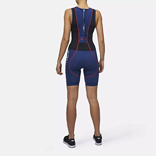 Sundried Womens Premium Padded Triathlon Tri Suit Compression Duathlon Running Swimming Cycling Skin Suit (XX-Large) by Sundried (Image #3)