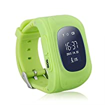 ExGizmo Safety Tracker Kids Smartwatch Wrist Watch Phone Anti-lost SOS For Android/IOS (Green)