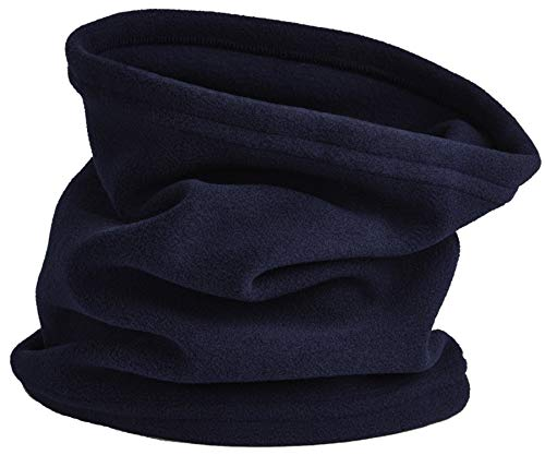 (Navy Fleece Neck Warmer Gaiter For Men and Women - Ultra Soft, Warm and Cozy- Polar Fleece Thermal Winter Gear by Blueberry Uniforms)
