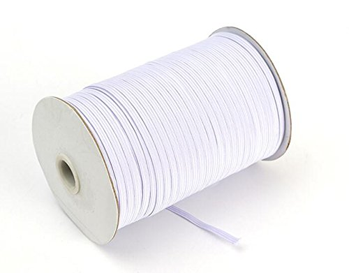 Cheap Braided Elastic 144 Yards - White (1/4'' Wide)