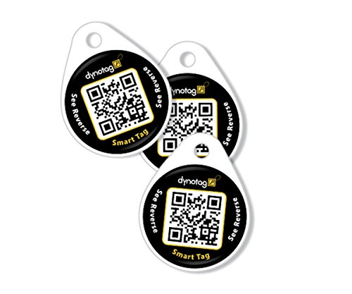 Dynotag Web Enabled Smart Round Laminated Synthetic ID Tag.