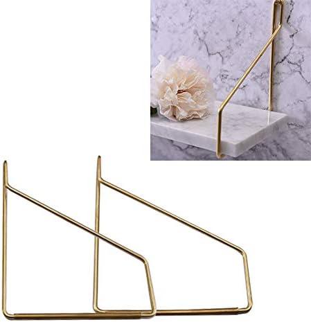 金属製 棚受け金具 ゴールド 棚受け ブラケット トライアングル フローティング棚 12/15/20cm 真鍮/銅 装飾的 ブラケット