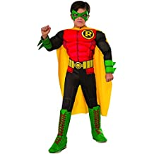 Rubies Costume DC Superheroes Deluxe Robin Child Costume, Small