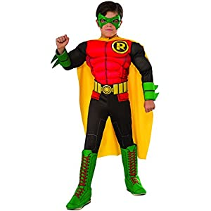 DC Superheroes Deluxe Robin Costume, Child