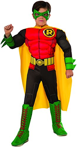 Brothers Family Costumes Mario (Rubie's Child's DC Superheroes Robin Costume,)